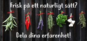 Skicka in din erfarenhet av naturlig hälsa!